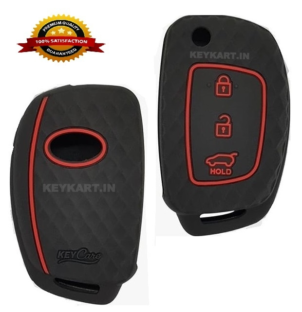 PREMIUM SICILONE COVER FOR  3 BUTTON HYUNDAI FLIP KEY FOR I20(UPTO 2016),VERNA,XCENT FLIP KEY