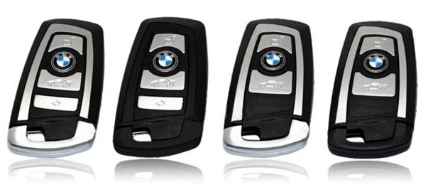 Metallic Leather Cover Shell Case for BMW Series Smart Remote Key