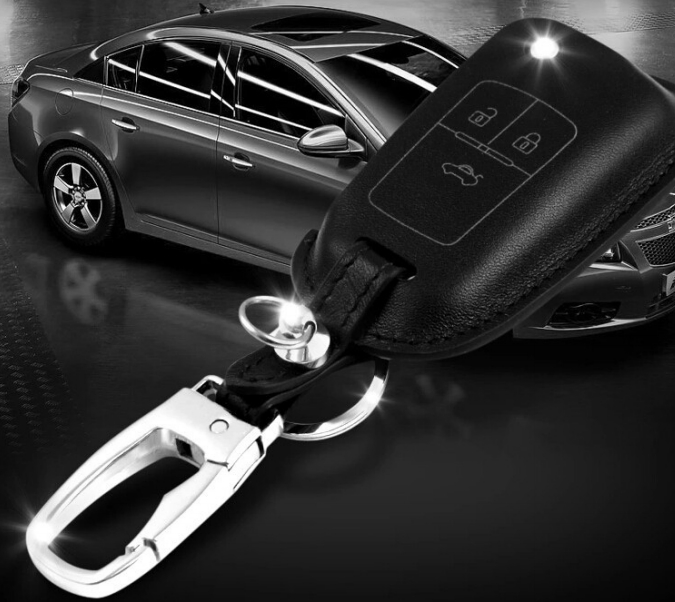 Luxury Leather Cover Case for Chevrolet 3 button Remote Key