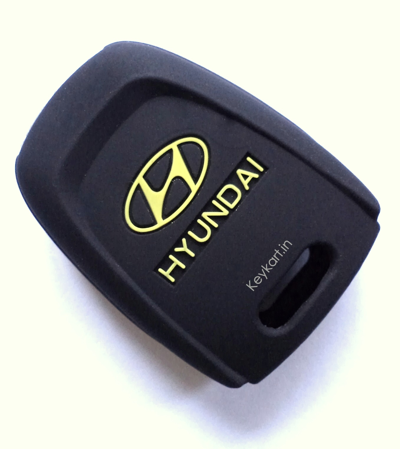 HYUNDAI GRAND I10 2 BUTTON REMOTE KEY SILICONE KEY COVER - BLACK+YELLOW