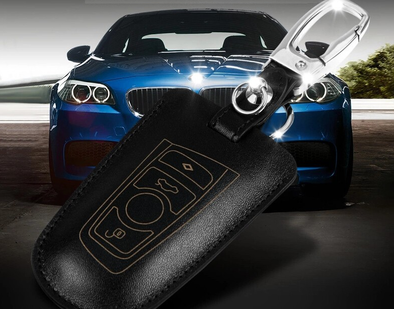 Luxury Leather Cover Case for BMW Remote Key