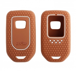 Silicone Key Cover for Honda 2b/3b Smart Key - BROWN ( City, Civic, Jazz, Amaze, CR-V, WR-V, BR-V ) By KEYKART� In Panvel