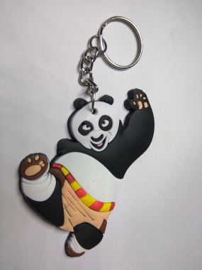 FANCY RUBBER CARTOON KEY CHAIN - PANDA In Thane