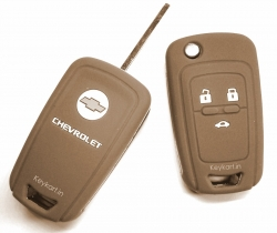 CHEVROLET CRUZE 3 BUTTON SILICONE KEY COVER - BROWN