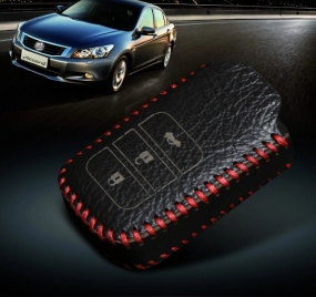 Luxury Leather Cover Case for Honda 3 button Remote Key In Raipur