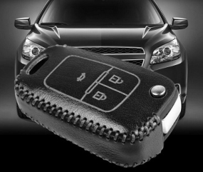 Luxury Leather Cover Case for Chevrolet Remote Key In Thane