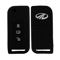 Silicone Key Cover Black for Mahindra XUV 500 flip Key�