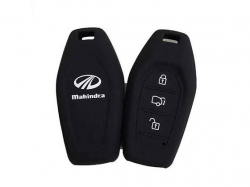 Silicone Flip Key Cover for Mahindra XUV 500 Smart Key (for Push Button Start only) - Black In Raipur