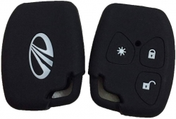 Mahindra Xylo,Scorpio,QUANTO 3 Button Silicone Key Cover - Black